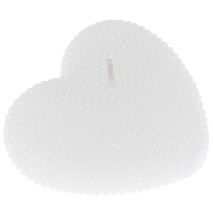 Свеча Сердце, цвет: белый. 9444894448Свеча Сердце выполнена из парафина белого цвета. Форма в виде сердца делает ее идеальным аксессуаром для создания атмосферы романтики в вашем доме. Характеристики: Материал: парафин. Цвет: белый. Размер свечи (ДхШхВ): 8 см х 7,5 см х 3 см. Размер упаковки: 10 см х 10 см х 4 см. Артикул: 94448.