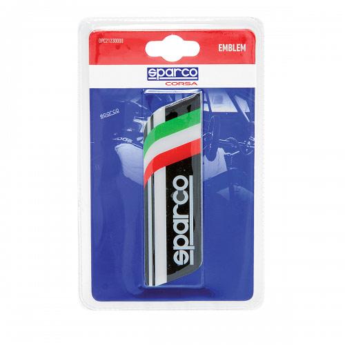 Эмблема с логотипом Sparco, самоклеящаяся, цвет: черный. SPC/EMB-003 BKSPC/EMB-003 BKЭмблема с логотипом Sparco выполнена в фирменном дизайне Sparco и украшена изображением итальянского флага. Это лакированная объемная эмблема с эффектом 3D. На поверхность эмблема надежно крепится при помощи самоклеящейся основы. Традиционно ее устанавливают на багажник автомобиля или любую другую плоскость кузова, но при желании ею можно украсить и интерьер автомобиля. Эмблема с логотипом Sparco подчеркнет динамичный характер автомобиля и придаст ему яркие и запоминающиеся черты. Характеристики: Материал: бумага. Цвет: черный, белый. Размер эмблемы: 12 см х 3,5 см. Размер упаковки: 2 см х 15 см х 9 см. Артикул: SPC/EMB-003 BK.