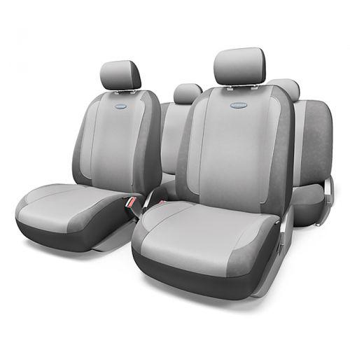 Набор авточехлов Autoprofi Generation, велюр, цвет: темно-серый, светло-серый, 11 предметов. Размер MGEN-1105 D.GY/L.GY (M)Плавные очертания, спокойный дизайн и приятные тона чехлов Generation передают водителю и пассажирам ощущения домашнего уюта и тепла. Удобство чехлам добавляют два объемных кармана, расположенных в спинках передних сидений. Ворсистый велюр чехлов, триплированный поролоном, делает их на ощупь мягкими и бархатистыми. Материал не выцветает на солнце, не электризуется и обладает высокими грязеотталкивающими свойствами. Основные особенности авточехлов Generation: - 3 молнии в спинке заднего ряда; - карманы в спинках передних сидений; - толщина поролона: 5 мм. Комплектация: - 1 сиденье заднего ряда; - 1 спинка заднего ряда; - 2 сиденья переднего ряда; - 2 спинки переднего ряда; - 5 подголовников; - набор фиксирующих крючков.