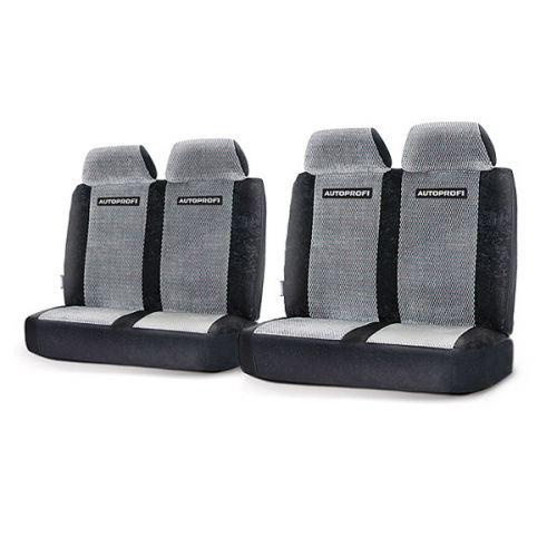 Модельные чехлы Autoprofi на ГАЗель, Соболь, Валдай, велюр, цвет: черный, серый. GAZ-003 BK/GYGAZ-003 BK/GYДанные чехлы разработаны специально для микроавтобусов, фургонов и грузовиков марок Газель, Соболь и Валдай. Серия включает в себя 3 модели чехлов различной комплектации, которые учитывают любые варианты расположения кресел в салоне автомобиля - как пассажирского, так и грузового или грузопассажирского. Чехлы изготавливаются из плотного велюра и отличаются высокой износостойкостью, а также грязеотталкивающими свойствами. При необходимости они легко снимаются, после стирки не теряют свою форму и надежно защищают кресла автомобиля, сохраняя в салоне чистоту и уют. Наполнитель - поролон. Передние спинки крепятся липучками. Комплектация: - 2 двойные спинки, - 2 двойных сиденья, - 4 подголовника, - набор фиксирующих крючков. Особенности: Толщина поролона - 5 мм Предустановленные крючки на широких резинках Крепление передних спинок липучками Вариантов комплектации - 3