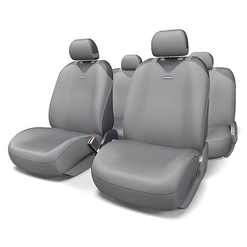 Чехлы-майки на сиденья Autoprofi Sport Plus, полиэстер, цвет: темно-серый, 9 предметов. R-902P D.GYR-902P D.GYЧехлы-майки Autoprofi Sport Plus, выполненные из высококачественного полиэстера, оснащены полностью закрытой нижней частью сидений, которая делает чехлы более практичными и износостойкими. Форма чехлов в виде маек позволяет легко и быстро надевать их на кресла любого типа, не прибегая к демонтажу подголовников и подлокотников. Чехлы-майки Autoprofi Sport Plus выполнены в спортивном стиле, который придает салону яркие и динамичные черты. Широкая гамма расцветок чехлов позволяет подобрать их к любому автомобильному интерьеру. Эластичный полиэстер изделий плотно облегает поверхность кресел, не выцветает на солнце и не электризуется. Имеется возможность использования с любыми типами сидений. Комплектация: - 1 сиденье заднего ряда, - 1 спинка заднего ряда, - 2 чехла переднего ряда, - 5 подголовников, - набор фиксирующих крючков. Особенности: Использование с любыми типами сидений Толщина поролона - 2 мм
