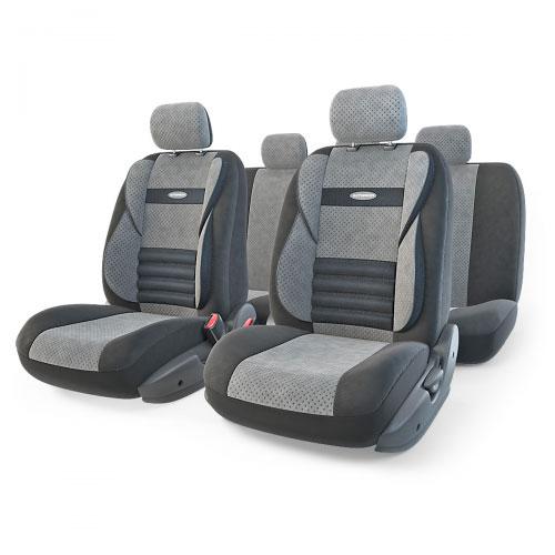 Набор ортопедических авточехлов Autoprofi Comfort Combo, велюр, цвет: черный, темно-серый, 11 предметов. Размер M. CMB-1105 BK/D.GY (M)CMB-1105 BK/D.GY (M)Ортопедические авточехлы Comfort Combo оснащены усиленной поддержкой плечевого пояса, которая способствует естественному положению спины при вождении. Объемные боковые вставки чехлов на уровне поясницы поддерживают туловище в поворотах, а рифленый поясничный профиль обеспечивает естественную осанку и снижает нагрузку с межпозвоночных дисков. Чехлы Comfort Combo выполнены из формованного велюра, который сочетает привлекательный внешний вид и хорошие дышащие свойства, позволяющие водителю и пассажирам чувствовать себя комфортно во время движения. Основные особенности авточехлов Comfort Combo: - боковая поддержка спины; - 3 молнии в спинке заднего ряда; - 3 молнии в сиденье заднего ряда; - карманы в спинках передних сидений; - крепление передних спинок липучками; - ортопедический поясничный упор; - поддержка плечевого пояса; - предустановленные крючки на широких резинках; - толщина поролона: 5 мм. ...