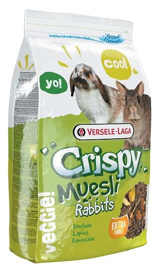 Корм для кроликов Versele-Laga Crispy Muesli Rabbits, 1 кг461701Вкусный и богатый клетчаткой корм Versele-Laga Crispy Muesli Rabbits для карликовых и домашних кроликов - это полноценный корм с содержанием стебельков сена, хлопьев и овощей. Это смесь для настоящих гурманов! Благодаря содержанию гранул «Happy & Healthy» корм имеет все необходимые нутриенты для долгой и здоровой жизни вашего кролика. Богатый клетчаткой состав поддержит здоровье кишечника и зубов вашего зверька, а дополнительные овощи обеспечат прекрасный вкус корма. Суточная норма кормления: кроликам карликовых пород, а также молодым кроликам рекомендуется давать до 50 грамм корма в день. Кроликам средних размеров рекомендуется давать до 80 грамм корма в день. Необходимо сокращать количество основного корма при кормлении данным рационом (в общей сложности до 25%). Не забывайте давать питомцу необходимое количество сена. Животное должно иметь постоянный доступ к свежей чистой питьевой воде. Давайте корм только комнатной температуры. Корм следует...