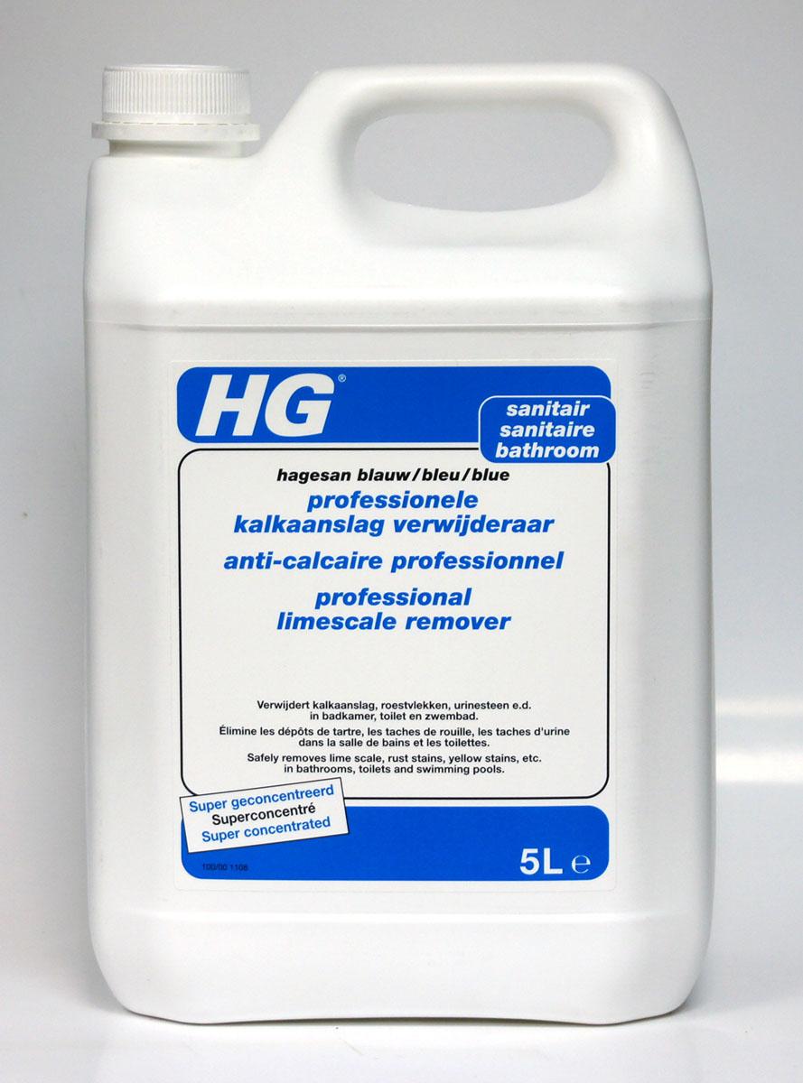 Универсальное чистящее средство HG для ванной и туалета, 5 л100500100Универсальное средство для эффективной и безопасной очистки всех поверхностей в ванной комнате и туалете, включая хром, нержавеющую сталь, керамику, кафель, плитку, стеклянные поверхности, пластмассу и т.д. Инструкция по применению: нанесите средство с помощью губки и оставьте действовать на несколько минут. Смойте средство с поверхности большим количеством воды. При необходимости повторите обработку. Обработка насадки душа: в случае, если душ работает плохо в результате появления известкового налета, погрузите насадку в емкость, наполненную концентрированным средством, на 30 минут, затем протрите щеткой и протрите водой. Очистка стеклянных поверхностей, которые потеряли блеск: погрузите на 10 минут в разведенное средство (1 часть средства, 10 частей воды), потрите щеткой и промойте водой. Меры предосторожности: R34 - Вызывает ожоги. S1/2 - Хранить в закрытом доступе и недоступном для детей месте. S26 - В случае попадания в глаза немедленно промыть...