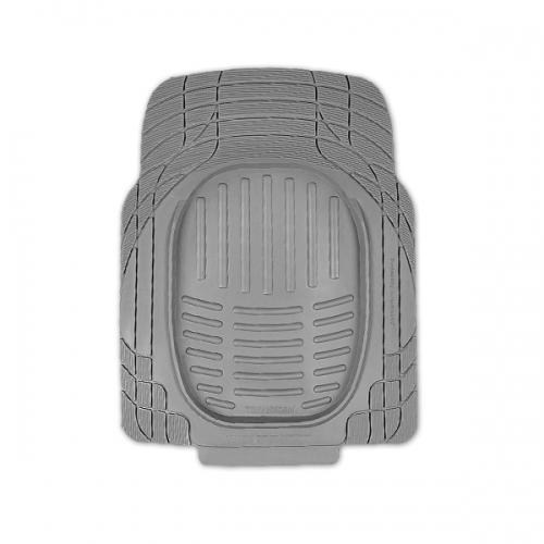Коврики автомобильные Автопрофи / Autoprofi Transform, термопласт, цвет: серый, 77 см х 57 см, 2 штSC-FD421005Комплект универсальных ковриков для переднего ряда Автопрофи / Autoprofi Transform отличаются лаконичным, но в то же время функциональным дизайном. Наличие множества насечек на поверхности ковриков позволяет с помощью ножниц корректировать размер и форму изделий, адаптируя их под салон автомобиля. Коврики изготовлены из термопласта-эластомера, сохраняющего эластичность даже при экстремально низких температурах - до -50 °С. Легкий и износостойкий материал изделий устойчив к воздействию агрессивных веществ, таких как масло, топливо или дорожные реагенты, и не обладает характерным запахом резины. Характеристики:Материал: термопласт-эластомер. Размер 1 коврика: 770 мм х 570 мм. Комплектация: 2 шт. Температура использования: от -50 до +50 °С. Артикул: TER-001 GY.
