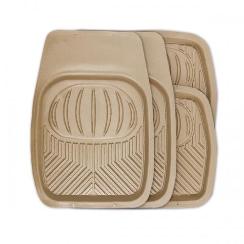 Коврики автомобильные Autoprofi Polar, универсальные, цвет: бежевый, 4 предметаTER-105 BEУниверсальные автомобильные коврики Autoprofi Polar изготовлены из термопласта-эластомера, который отличается небольшим весом, отсутствием характерного для резины запаха и высокой износостойкостью. Инновационный материал сохраняет свою эластичность даже при экстремально низких температурах до -50°С и устойчив к воздействию агрессивных веществ, таких как масло, топливо или дорожные реагенты. На передних ковриках имеются специальные насечки для разреза, которые позволяют придать им форму, соответствующую выемкам днища автомобиля. Благодаря этому они плотно прилегают к полу, защищая его от грязи и влаги. Высокие фрикционные свойства материала ковриков не дают им скользить по салону и под ногами водителя и пассажира. Характеристики: Материал: термопласт-эластомер. Цвет: бежевый. Комплектация: 4 шт. Температура использования: от -50°С до +50°С. Размер переднего коврика: 69 см х 48 см. Размер заднего коврика: 48 см х 48 см. Размер упаковки: 5...