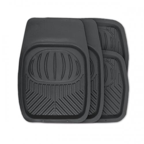 Коврики автомобильные Autoprofi Polar, универсальные, цвет: черный, 4 предметаTER-105 BKУниверсальные автомобильные коврики Autoprofi Polar изготовлены из термопласта-эластомера, который отличается небольшим весом, отсутствием характерного для резины запаха и высокой износостойкостью. Инновационный материал сохраняет свою эластичность даже при экстремально низких температурах до -50°С и устойчив к воздействию агрессивных веществ, таких как масло, топливо или дорожные реагенты. На передних ковриках имеются специальные насечки для разреза, которые позволяют придать им форму, соответствующую выемкам днища автомобиля. Благодаря этому они плотно прилегают к полу, защищая его от грязи и влаги. Высокие фрикционные свойства материала ковриков не дают им скользить по салону и под ногами водителя и пассажира. Характеристики: Материал: термопласт-эластомер. Цвет: черный. Комплектация: 4 шт. Температура использования: от -50°С до +50°С. Размер переднего коврика: 69 см х 48 см. Размер заднего коврика: 48 см х 48 см. Размер упаковки: 5 см...