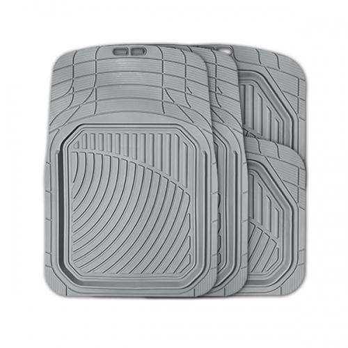 Коврики автомобильные Autoprofi Defender, универсальные, морозостойкие, цвет: серый, 4 предметаTER-515 GYКоврики Autoprofi Defender изготовлены из термопласта-эластомера, который характеризуется небольшим весом, отсутствием типичного для резины запаха и высокой износостойкостью. Данный материал сохраняет свою эластичность даже при экстремально низких температурах до -50°С и устойчив воздействию агрессивных веществ, таких как масло, топливо или дорожные реагенты. Специальный рисунок ковриков позволяет использовать их в большинстве современных легковых автомобилей. Разветвленная сеть насечек для разреза на поверхности помогает придать коврикам форму, точно соответствующую днищу салона. Благодаря этому и высоким фрикционным качествам материала коврики не скользят под ногами и плотно лежат на поверхности пола, защищая его от грязи и влаги. Характеристики: Материал: термопласт-эластомер. Цвет: серый. Комплектация: 4 шт. Температура использования ковриков: от -50°С до +50°С. Размер переднего коврика: 74 см х 52 см. Размер заднего коврика: 45,5 см х 51,5...