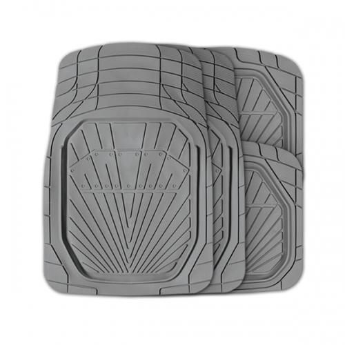 Коврики автомобильные Autoprofi Power, универсальные, вырезаемые, цвет: серый, 4 предметаTER-510 GYУниверсальные автомобильные коврики Autoprofi Power изготовлены из термопласта-эластомера с высокими фрикционными качествами, благодаря чему изделия не скользят под ногами и плотно лежат на поверхности пола, защищая его от грязи и влаги. Термопласт-эластомер отличается небольшим весом, отсутствием характерного для резины запаха и высокой износостойкостью. Материал сохраняет свою эластичность даже при экстремально низких температурах до -50°С и устойчив к воздействию агрессивных веществ, таких как масло, топливо или дорожные реагенты. Комплект ковриков можно использовать в большинстве современных легковых автомобилей. Широкая универсальность обусловлена специальным рисунком ковриков-трансформов. На их поверхности имеется разветвленная сеть насечек для разреза, которая позволяет придать коврикам форму, точно соответствующую днищу салона. Характеристики: Материал: термопласт-эластомер. Цвет: серый. Комплектация: 4 шт. Температура использования: от -50°С...