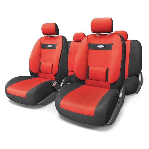 Набор ортопедических авточехлов Autoprofi Comfort, велюр, цвет: черный, красный, 11 предметов. Размер M. COM-1105 BK/RD (M)COM-1105 BK/RD (M)Эргономичные авточехлы Comfort обладают анатомической формой с объемной боковой поддержкой спины и поясничным упором, которые обеспечивают наиболее удобную осанку водителя и переднего пассажира, снижая усталость от многочасовых поездок. В качестве внешнего материала в чехлах Comfort используется жаропрочный велюр, который не электризуется и не выцветает на солнце. Широкая гамма расцветок чехлов позволяет подобрать их практически к любому оформлению салона автомобиля. Основные особенности авточехлов Comfort: - боковая поддержка спины; - 3 молнии в спинке заднего ряда; - 3 молнии в сиденье заднего ряда; - карманы в спинках передних сидений; - поясничный упор; - использование с боковыми airbag; - толщина поролона: 5 мм; - предустановленные крючки на широких резинках. Комплектация: - 1 сиденье заднего ряда; - 1 спинка заднего ряда; - 2 сиденья переднего ряда; - 2 спинки переднего...