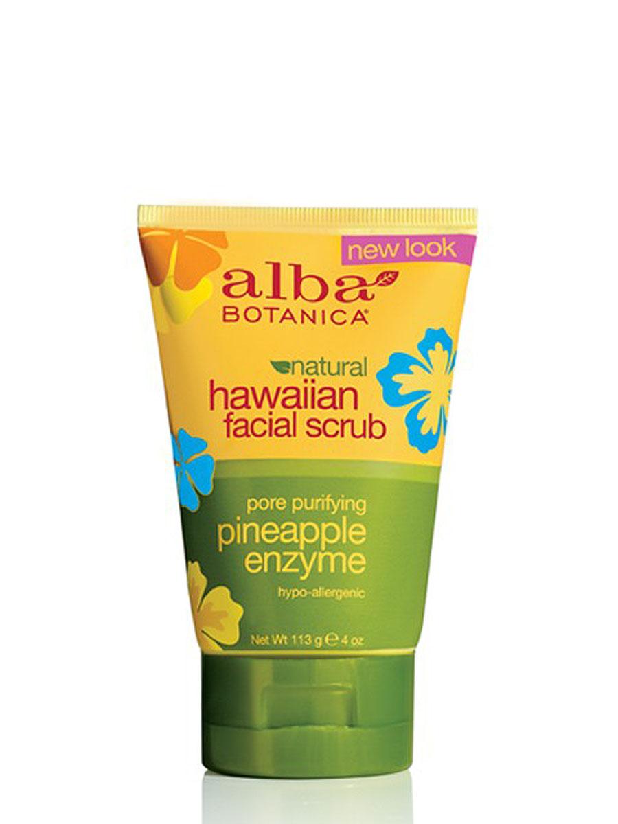 Alba Botanica Гавайский скраб для лица, 113 гAL00808Нежный скраб Alba Botanica для глубокого очищения кожи лица, шеи и рук мягко и нежно очищает кожу от ороговевших клеток. Экстракты тропических растений увлажняют, оживляют и придают коже гладкость и шелковистость. Способ применения : нанести на чистую, увлажненную кожу сделать легкий массаж и смыть водой. Применять 1-2 раза в неделю. Характеристики: Вес: 113 г. Артикул: AL00808. Производитель: США. Товар сертифицирован. Состав: вода, эфиры жожоба, каприк/каприлик,аминометилпропанол, масло жожоба, сок алоэ вера, экстракт ананаса, экстракт папайи, экстракт имбиря, аллантоин, бромелайн, карбомер, цетиловый спирт, лимонная кислота, глицерин, фосфат натрия рибофлавина, стеариновая кислота, токоферола ацетат, бензиловый спирт, глюконолактон, сорбат калия, бензоат натрия, лимонен, натуральные отдушки.