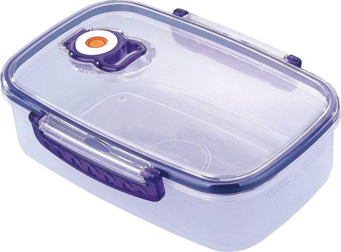 Контейнер пищевой вакуумный Bekker Koch, прямоугольный, 1,1 л контейнер пищевой вакуумный bekker круглый 650 мл