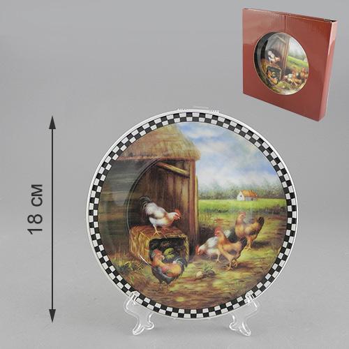 Тарелка декоративная Сельское утро, диаметр 18 см515-475Декоративная тарелка Сельское утро станет достойным украшением вашего интерьера. Сувенирная тарелка выполнена из фарфора, декорирована оригинальным красочным рисунком. На оборотной стороне тарелки предусмотрена металлическая петелька для подвешивания на стену. Тарелка сочетает в себе изысканный дизайн и красочность оформления, которая придется по вкусу и ценителям классики, и тем, кто предпочитает утонченность и изящность. А также такая тарелка послужит хорошим подарком, для людей, ценящих красивые и оригинальные вещи.