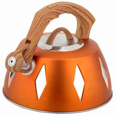 Чайник металлический Bekker De Luxe, цвет: желтый, 2,8 л. BK-S455BK-S455 желтыйКорпус чайника Bekker De Luxe выполнен из высококачественной нержавеющей стали, что обеспечивает долговечность использования. Цветной корпус. Пластмассовая фиксированная ручка с прорезиненным покрытием делает использование чайника очень удобным и безопасным. Чайник снабжен свистком и устройством для открывания носика. Капсулированное дно. Подходит для использования на электрических, газовых, стеклокерамических, галогеновых плитах. Можно мыть в посудомоечной машине.