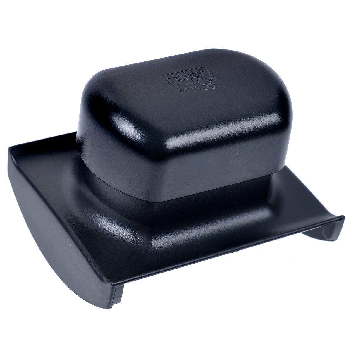 Держатель для терки Raspini55550Держатель для терки Raspini выполнен из высококачественного пластика черного цвета. Специальный держатель для терки Raspini защищает руки и дает возможность нарезать любые продукты. Можно мыть в посудомоечной машине. Характеристики: Материал: высококачественный пластик. Размер: 11 см х 9,5 см х 8 см. Цвет: черный. Артикул: 55550.