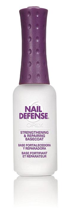 Orly Покрытие для слоящихся ногтей Nail Defense, 9 мл24422Обогащенная белком формула покрытия Orly Nail Defense обеспечивает защиту и укрепление ногтевой пластины. Стимулирует рост крепких ногтей, предотвращая их расслаивание. Протеин, который входит в состав препарата, осуществляет склеивание чешуек ногтей между собой, а также запечатывание свободного края для предотвращения его расслаивания. Способ применения : если ногти слоятся очень сильно, то первые 2 недели наносить через день послойно. В дальнейшем использовать как базу и верхнее покрытие в течение 2-3 месяцев. Характеристики: Объем: 9 мл. Артикул: 44422. Производитель: США. Товар сертифицирован. Состав: этилацетат, бутилацетат, нитроцеллюлоза, SDА-40В, гептан, изопропил, пропилацетат, гликолевый сополимер, этилтосиламид, триметил пентанил диизобутират, камфара, бензофенон-1, диметикон, поливинил бутирал, токоферил ацетат (витамин А), сафлоровое масло, экстракт мелиссы, экстракт конского...