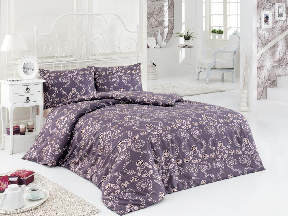 Комплект белья ASTERIA Home Pera, 2-спальный, наволочки 50х70, цвет: серо-фиолетовый, бежевыйRC-100BWCКомплект белья ASTERIA Home Pera, изготовленный из сатина, состоит из пододеяльника, простыни и двух наволочек. Постельное белье имеет изысканный внешний вид и обладает яркостью и сочностью цвета. Сатин производится из высших сортов хлопка, а своим блеском, легкостью и на ощупь напоминает шелк. Такая ткань рассчитана на 200 стирок и более. Постельное белье из сатина превращает жаркие летние ночи в прохладные и освежающие, а холодные зимние - в теплые и согревающие.