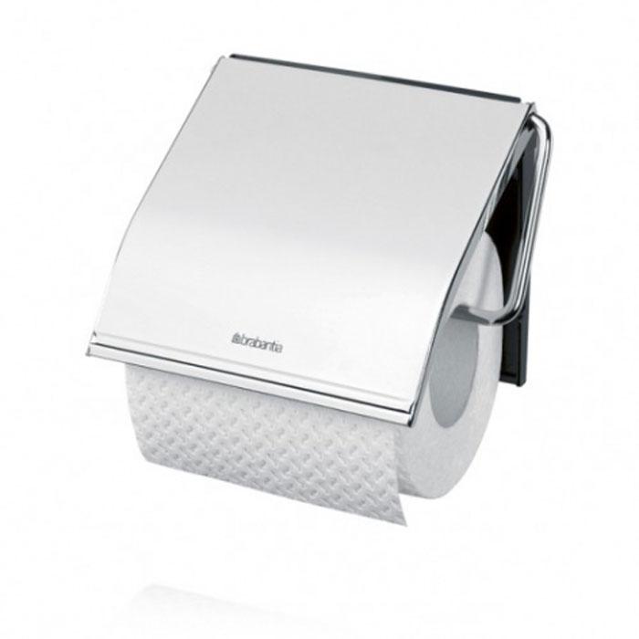 Держатель для туалетной бумаги Brabantia, с крышкой, цвет: серебристый. 414589414589Держатель для туалетной бумаги Brabantia изготовлен из высококачественной листовой стали со стойким антикоррозийным покрытием или хромированной стали, поэтому он идеально подходит для использования в ванной и туалете. Пластина крепления выполнена из пластика. Держатель просто монтировать и легко менять рулон. В комплекте фурнитура для монтажа. Характеристики: Материал: полированная сталь, пластик. Цвет: серебристый. Размер держателя: 12 см х 12,5 см х 1,7 см. Размер упаковки: 13 см х 15,6 см х 1,6 см. Артикул: 414589. Гарантия производителя: 5 лет.