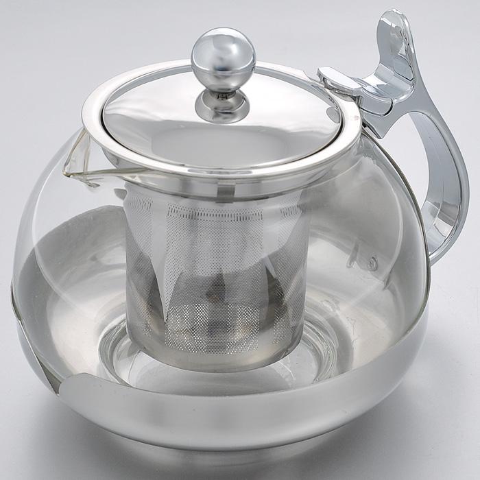 Чайник заварочный Hans & Gretchen, с фильтром, 0,7 л. 14YS-8232VT-1520(SR)Заварочный чайник Hans & Gretchen изготовлен из экологически чистых и безопасных материалов. Колба выполнена из прочного термостойкого стекла, выдерживающего температуру до 100°С. Пластиковые детали цвета металлик изготовлены из прочного нетоксичного материала. Чайник оснащен металлическим фильтром. Удобная ненагревающаяся ручка делает процесс эксплуатации более комфортным. Чайник используется только для приготовления чая. Простой и удобный прибор поможет вам приготовить крепкий, ароматный чай. Рекомендации по использованию: - не используйте посуду в случае появления трещин, - не используйте в СВЧ, - не для использования на любых типах плит, - можно мыть в посудомоечной машине. Диаметр по верхнему краю: 8,5 см.Высота (без учета крышки): 10 см.Высота фильтра: 6,5 см.