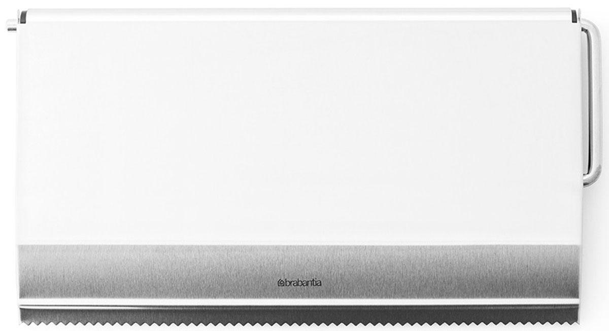 Держатель для бумажного полотенца Brabantia, навесной. 313868313868Настенный держатель для бумажного полотенца Brabantia, выполненный из высококачественной стали с матовой поверхностью, станет непременным атрибутом на любой кухне. Он крепится к стене при помощи двух шурупов с дюбелями (входят в комплект). Характеристики: Материал: сталь. Размер держателя: 25,5 см х 14 см х 2 см. Размер упаковки: 28,5 см х 14 см х 3 см. Артикул: 313868. Гарантия производителя: 5 лет.