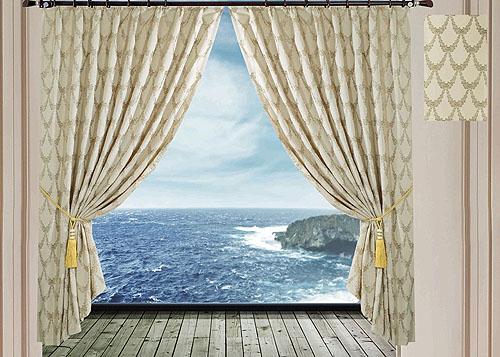 Комплект штор SL, на ленте, цвет: бежевый, высота 270 см. 95159515Роскошный комплект штор SL изготовлен из мягкого полиэстера с жаккардовым рисунком. Комплект состоит из двух светонепроницаемых полотен, благодаря чему они надежно защищают комнату от солнечного света днем и от уличного освещения вечером. По верхнему краю прошита плотная широкая шторная лента, для крючков. Рекомендации по уходу: - Ручная или машинная стирка при температуре не выше 40°С. - Разрешено гладить при максимальной температуре 110°С. - При стирке не использовать средства содержащие отбеливатели. - Химическая чистка запрещена.