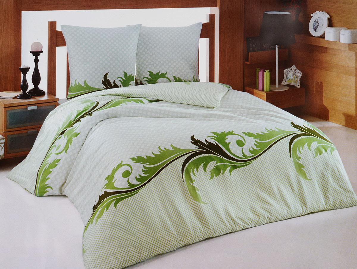 Комплект белья Tete-a-Tete Изумруд (1,5 КПБ, сатин, наволочки 70х70), цвет: зеленый, белыйТ-8067-01Комплект постельного белья Tete-a-Tete Изумруд является экологически безопасным для всей семьи, так как выполнен из натурального хлопка (сатина). Комплект состоит из простыни, пододеяльника и двух наволочек. Предметы комплекта оформлены изящным принтом в виде узоров. Сатин производится из высших сортов хлопка, а своим блеском, легкостью и на ощупь напоминает шелк. Такая ткань рассчитана на 200 стирок и более. Постельное белье из сатина превращает жаркие летние ночи в прохладные и освежающие, а холодные зимние - в теплые и согревающие. Благодаря натуральному хлопку, комплект постельного белья из сатина приобретает способность пропускать воздух, давая возможность телу дышать. Одно из преимуществ материала в том, что он практически не мнется, и ваша спальня всегда будет аккуратной и нарядной. Характеристики: Страна: Турция. Материал: сатин (100% хлопок). Размер упаковки: 29 см х 37 см х 7 см. В комплект входят: Пододеяльник - 1 шт....