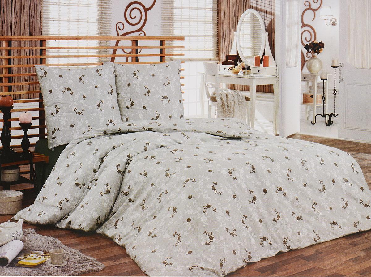 Комплект белья Tete-a-Tete Консуэло (2-х спальный КПБ, сатин, наволочки 70х70), цвет: коричневый, серыйТ-8065-02Комплект постельного белья Tete-a-Tete Консуэло является экологически безопасным для всей семьи, так как выполнен из натурального хлопка (сатина). Комплект состоит из простыни, пододеяльника и двух наволочек. Предметы комплекта оформлены изящным цветочным принтом. Сатин производится из высших сортов хлопка, а своим блеском, легкостью и на ощупь напоминает шелк. Такая ткань рассчитана на 200 стирок и более. Постельное белье из сатина превращает жаркие летние ночи в прохладные и освежающие, а холодные зимние - в теплые и согревающие. Благодаря натуральному хлопку, комплект постельного белья из сатина приобретает способность пропускать воздух, давая возможность телу дышать. Одно из преимуществ материала в том, что он практически не мнется, и ваша спальня всегда будет аккуратной и нарядной. Рекомендации по уходу: - Стирка изделий с нейтральными моющими средствами в теплой воде при максимальной температуре 40°С (для темных тканей) и при температуре 60°С (для...