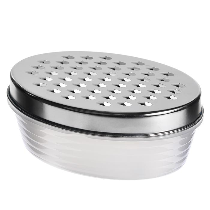 ТеркаAtlantis с лоткомCM000001326Терка с лотком Atlantis, изготовленная из металла и пластика, непременно понравится каждой хозяйке. Она установлена на специальный контейнер и надежно закреплена.Терка Atlantis станет незаменимым помощником на вашей кухне и понравится любой хозяйке. Характеристики:Материал:металл, пластик. Размер рабочей поверхности терки:17 см х 11,5 см. Размер контейнера:17,5 см х 12 см х 5 см. Артикул: G017.