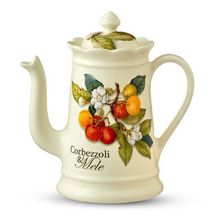 Кофейник Nuova Cer Итальянские фрукты, 900 млVT-1520(SR)Кофейник Nuova Cer Итальянские фрукты прекрасно подойдет для вашей кухни. Он выполнен из первоклассной керамики и украшен изображением фруктов. Изящный дизайн кофейника придется по вкусу и ценителям классики, и тем, кто предпочитает утонченность и изысканность.Мыть с применением жидких моющих средств. Характеристики: Материал: керамика. Объем: 900 мл. Высота (без крышки): 17 см. Цвет:бежевый.