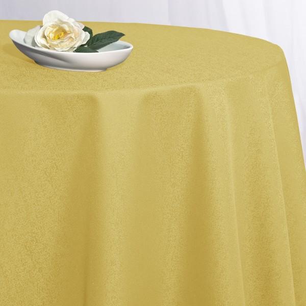 Скатерть Schaefer, круглая, цвет: желтый, диаметр 170 см. 41704170/FB.05-170Великолепная скатерть Schaefer, выполненная из полиэстера, органично впишется в интерьер любого помещения, а оригинальный дизайн удовлетворит даже самый изысканный вкус. Скатерть изготовлена из материала желтого цвета с орнаментом и обладает жироводооталкивающими свойствами. Это текстильное изделие станет удобным и оригинальным украшением вашего дома! Характеристики: Материал: 100% полиэстер. Размер: 170 см х 170 см. Цвет: желтый.