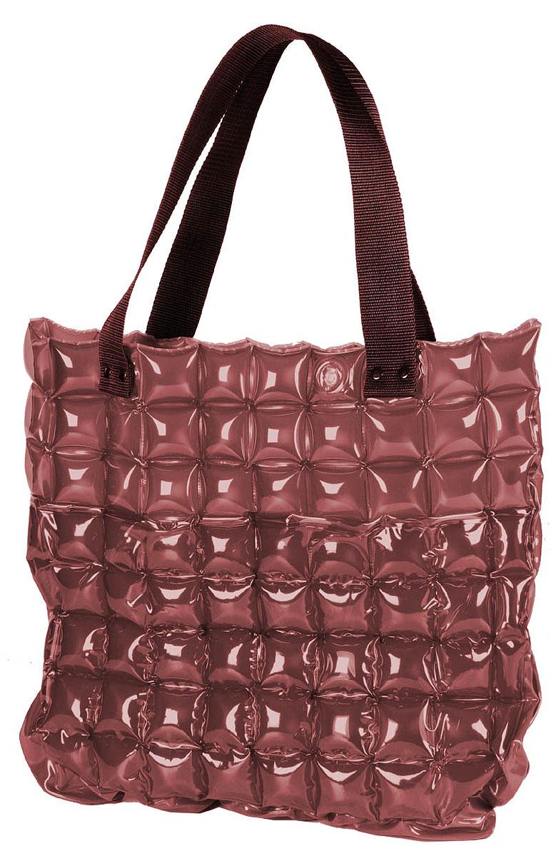 Сумка надувная Inflat Decor, цвет: шоколадный. 00290029 ChocolateЯркая надувная сумка - великолепный аксессуар на лето! Сумка прямоугольной формы выполнена из ПВХ и снабжена ручками из полиэстера. Сумка легко надувается при помощи мини-насоса (входит в комплект) или рта. В сдутом виде сумка очень компактна и не займет много места. Надувная вместительная сумка - отличное решение для отдыха на пляже. Характеристики: Материал: ПВХ, полиэстер. Размер сумки: 52 см х 41 см.