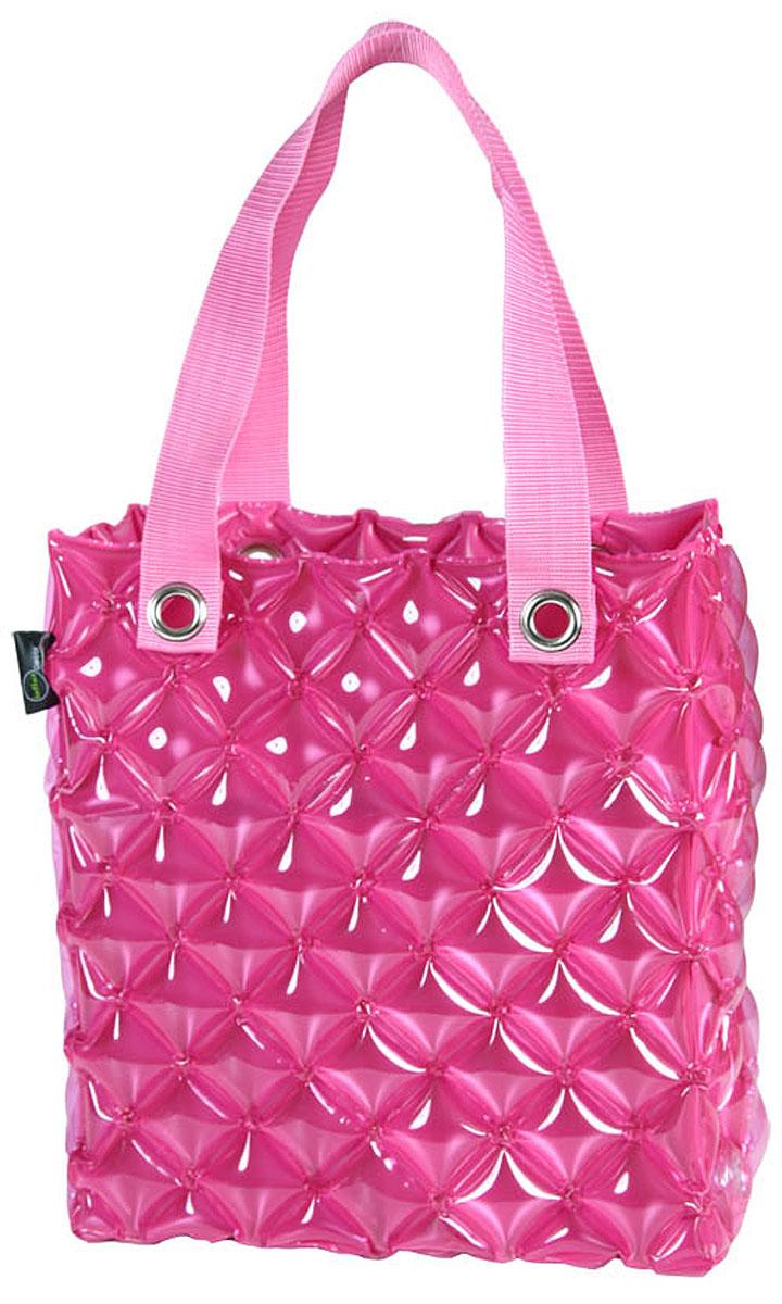 Сумка надувная Inflat Decor, цвет: фуксия. 00800080 Pinky PurpleЯркая надувная сумка - великолепный аксессуар на лето! Сумка прямоугольной формы выполнена из ПВХ и снабжена ручками из полиэстера. Сумка легко надувается при помощи мини-насоса (входит в комплект) или рта. В сдутом виде сумка очень компактна и не займет много места. Надувная вместительная сумка - отличное решение для отдыха на пляже или загородной поездки. Характеристики: Материал: ПВХ, полиэстер. Размер сумки: 62 см х 36,5 см х 15 см.