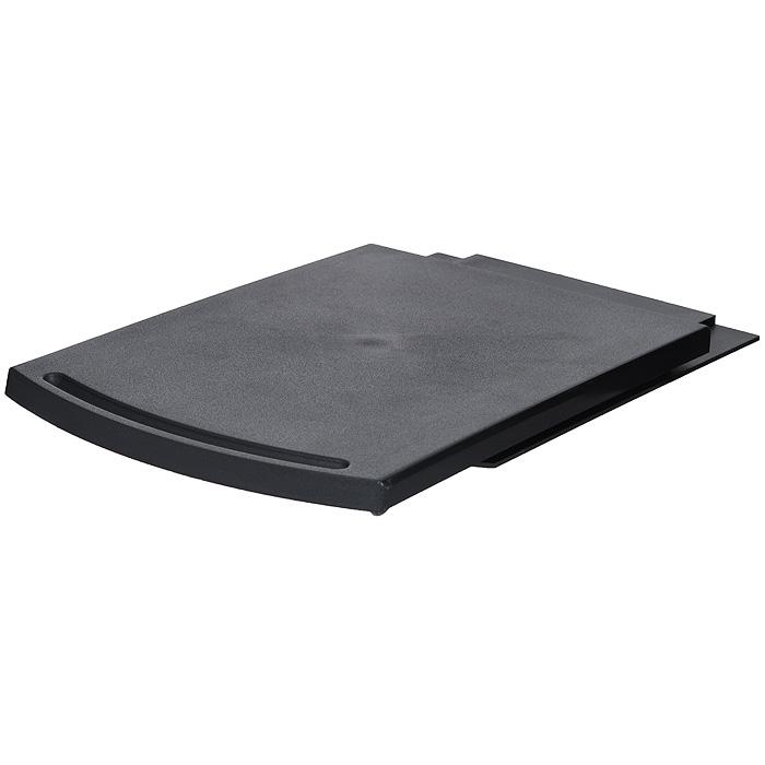 Подставка для электроприборов Bradex Слайдер, цвет: черныйTK 0046Подставка Bradex Слайдер, выполненная из черного пластика, состоит из верхнего подноса и нижней части с выступом. Она предназначена для легкого доступа к электроприборам, имеющимся на вашей кухне. Вы можете поставить ее под любой кухонный шкаф или полку, а затем поместить на Слайдер электрический чайник, кофеварку, блендер, соковыжималку и любой другой кухонный электроприбор. Если вам понадобится электрочайник или кофеварка, то достаточно просто потянуть верхнюю часть подставки на себя, и он моментально окажется у вас под рукой. Характеристики: Материал: пластик. Цвет: черный. Размер подставки (в сложенном виде): 30 см х 21,5 см х 2 см. Размер подставки (в разложенном виде): 52 см х 21,5 см х 2 см. Размер упаковки: 30,5 см х 22 см х 3 см. Артикул: TK 0046.