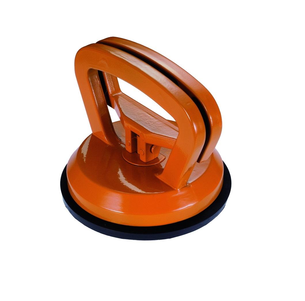 Стеклодомкрат Kapriol25670Присоска вакуумная для переноски материалов Kapriol позволяет быстро и, главное, безопасно транспортировать различные материалы. Особенности приспособления: Присоска для снятия и переноски различных материалов: стекол, зеркал, плит и др.; Рабочая область полностью изготовлена из алюминия - прочность и одновременно легкий вес; Замок с автоматической блокировкой - удобство использования; Защитное порошковое покрытие рукоятки. Характеристики: Материал: металл, резина. Диаметр присоски: 11,5 см. Размер приспособления: 11,5 см х 11,5 см х 9 см.