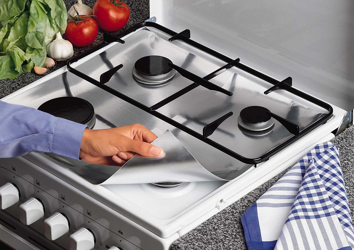 Пленка защитная для газовых плит Rayen, 26 см х 26 см, 8 шт37002190Защитная пленка Rayen предохраняет поверхность газовой плиты от брызг, пролитого молока и жира. Ваша кухня всегда будет чистой. Характеристики: Материал: штампованная алюминиевая бумага. Размер пленки: 26 см х 26 см. Комплектация: 8 шт.