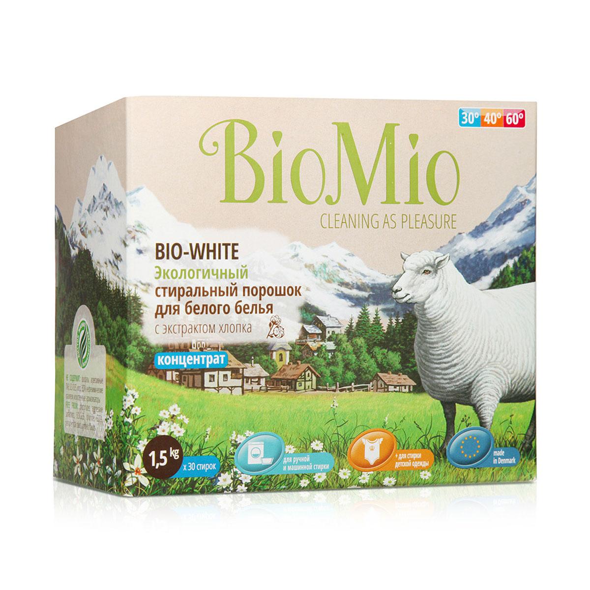 Экологичный стиральный порошок BioMio, для белого белья, с экстрактом хлопка, 1,5 кгПХ-416Экологичный стиральный порошок BioMio эффективно удаляет пятна и загрязнения, не повреждая волокна ткани. Подходит для ручной и машинной стирки. Концентрированная формула обеспечивает экономичный расход. Идеально подходит для стирки детского белья и одежды людей с чувствительной кожей. Полностью выполаскивается, исключает попадание на кожу моющих средств, способных вызывать раздражение чувствительной кожи. Средство без запаха не содержит эфирных масел, что делает его абсолютно безопасным для детской одежды. Не содержит вредных светоотражающих частиц, которые создают иллюзию чистоты и белизны. Безопасен для планеты. Не содержит: фосфаты, агрессивные ПАВ, SLS/SLES, хлор, EDTA, нефтехимические красители, искусственные ароматизаторы BioMio - линейка эффективных средств для дома, использование которых приносит только удовольствие. Уборка помогает не только очистить и гармонизировать свое пространство, но и себя, свои мысли, поэтому важно ее делать с радостью. ...