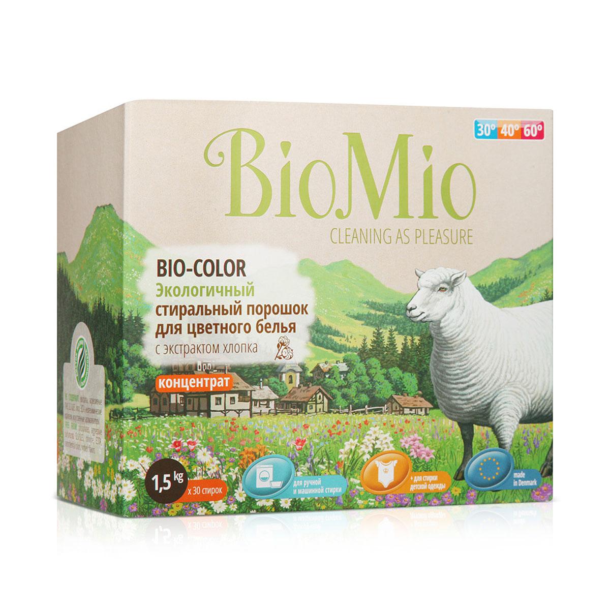 Стиральный порошок BioMio, для цветного белья, с экстрактом хлопка, 1,5 кг790009Экологичный стиральный порошок BioMio эффективно удаляет пятна и загрязнения, сохраняя структуру ткани и первозданный цвет. Подходит для ручной и машинной стирки. Концентрированная формула обеспечивает экономичный расход. Идеально подходит для стирки детского белья и одежды людей с чувствительной кожей. Полностью выполаскивается, исключает попадание на кожу моющих средств, способных вызывать раздражение чувствительной кожи. Средство без запаха не содержит эфирных масел, что делает его абсолютно безопасным для детской одежды. Безопасен для планеты. Не содержит: фосфаты, агрессивные ПАВ, SLS/SLES, хлор, EDTA, нефтехимические красители, искусственные ароматизаторы.BioMio - линейка эффективных средств для дома, использование которых приносит только удовольствие. Уборка помогает не только очистить и гармонизировать свое пространство, но и себя, свои мысли, поэтому важно ее делать с радостью. Средства, созданные с любовью и заботой, помогут в этом и идеально справятся с загрязнениями, оставаясь при этом абсолютно безопасными и экологичными. Средства BioMio незаменимы, если в доме есть ребенок.Состав: 5-15% цеолиты, неионогенные ПАВ; Вес: 1,5 кг.Товар сертифицирован.