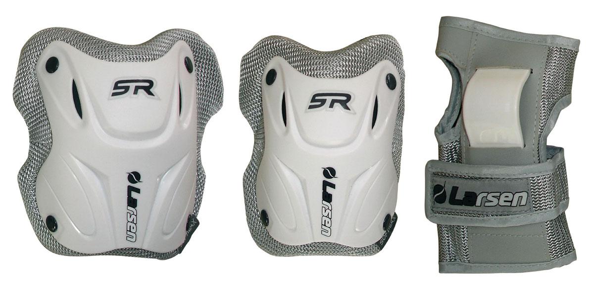 Защита роликовая Larsen P6W, цвет: серый, белый. Размер M202489