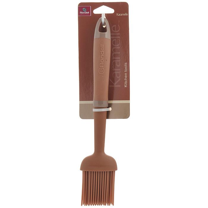 Кисть кулинарная Rondell KaramelleRD-627Кулинарная кисть Rondell Karamelle выполнена из силикона. Очень удобная ручка из обрезиненного пластика не позволит выскользнуть кисти из вашей руки. Максимальная температура нагрева рабочей поверхности 200°C. Кулинарная кисть предназначена для смазывания соусом и маринадом мяса, или маслом пирогов. Нежные силиконовые ворсинки легко гнутся, поэтому если вы будете использовать кисть для смазывания пирога с рельефным украшением - можно не бояться - кисть его не повредит. Стильная кулинарная кисть Rondell Karamelle займет достойное место среди аксессуаров на вашей кухне. Оригинальный дизайн и качество исполнения не оставят равнодушными ни тех, кто любит готовить, ни опытных профессионалов-поваров. Изделие можно мыть в посудомоечной машине. Характеристики: Материал: силикон, нейлон, пластик. Длина кисти: 25 см. Длина ворсинок: 5 см. Посуда Rondell совсем недавно появилась на российском рынке, но уже прекрасно себя...