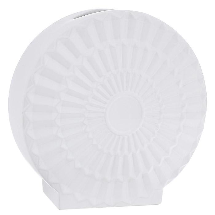 Ваза керамическая Феникс-презент, цвет: белый. 2390023900Оригинальная ваза Феникс-презент, выполненная из керамики, станет отличным украшением интерьера и подчеркнет его изысканность. Керамическую вазу можно преподнести в качестве оригинального подарка или сувенира. Характеристики: Материал: керамика. Цвет: белый. Размер вазы: 34 см x 34 см x 14 см.