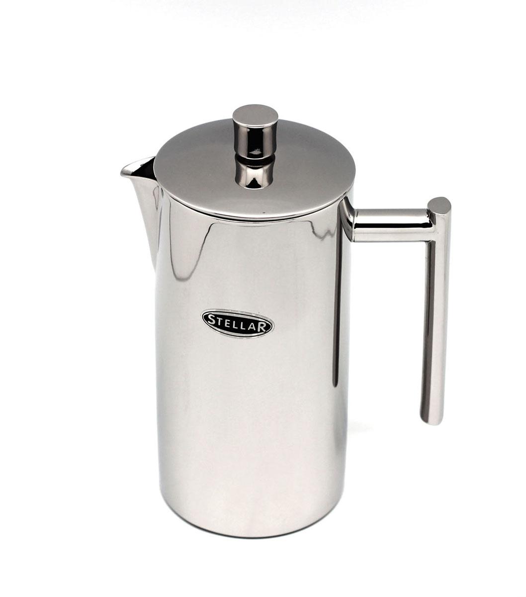 Френч-пресс Silampos Stellar, 0,8 л41281318SM71Френч-пресс Silampos Stellar используется для заваривания крупнолистового чая, кофе среднего помола, травяных сборов. Изделие, изготовленное из высококачественной стали. Френч-пресс Silampos Stellar незаменим для любителей чая и кофе. Объем: 0,8 мл. Размеры: 13 х 12 х 22,5 см.
