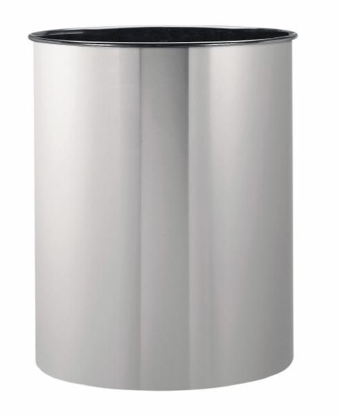 Корзина для бумаг Brabantia, цвет: матовая сталь, 15 л313387Ищете простую, но в то же время элегантную корзину для бумаг? Данная модель на 15 литров - идеальный вариант для любого помещения, будь то спальня, гостиная или офис. Компактный размер позволяет установить корзину в любом уголке - эстетично и не бросается в глаза; Универсальность - подходит как для домашнего использования, так и для использования в офисе; Долговечность - корзина изготовлена из коррозионно-стойких материалов; Удобная очистка; Корпус изготовлен из высококачественной цветной или оцинкованной стали; Перфорация - элегантный дизайн и дополнительная легкость; 10-летняя гарантия Brabantia. Характеристики: Материал: сталь. Размер: 535*270*338мм. Артикул: 313387.