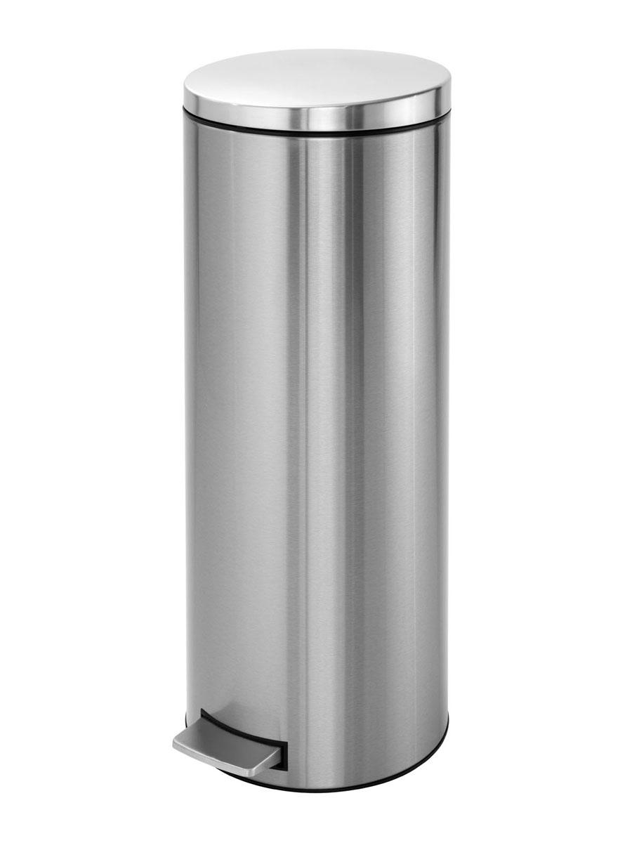 Бак мусорный Brabantia Бесшумный, высокий, с педалью, цвет: матовая сталь, 20 л478628Элегантный и высокий мусорный бак Brabantia с уникальным механизмом MotionControl идеально подходит для использования на кухне или в гостиной. Механизм MotionControl обеспечивает мягкое действие педали и бесшумное открывание крышки; Надежный педальный механизм, высококачественные коррозионно-стойкие материалы; Удобный в использовании - при открывании вручную крышка фиксируется в открытом положении, закрывается нажатием педали; Удобная очистка – съемное внутреннее пластиковое ведро; Бак удобно перемещать - прочная ручка для переноски; Отличная устойчивость даже на мокром и скользком полу – противоскользящее основание; Предохранение пола от повреждений - пластиковый защитный обод; Всегда опрятный вид - идеально подходящие по размеру мешки для мусора с завязками (размер F); 10-летняя гарантия Brabantia. Характеристики: Материал: сталь. Размер: 330*295*751мм. Артикул: 478628.
