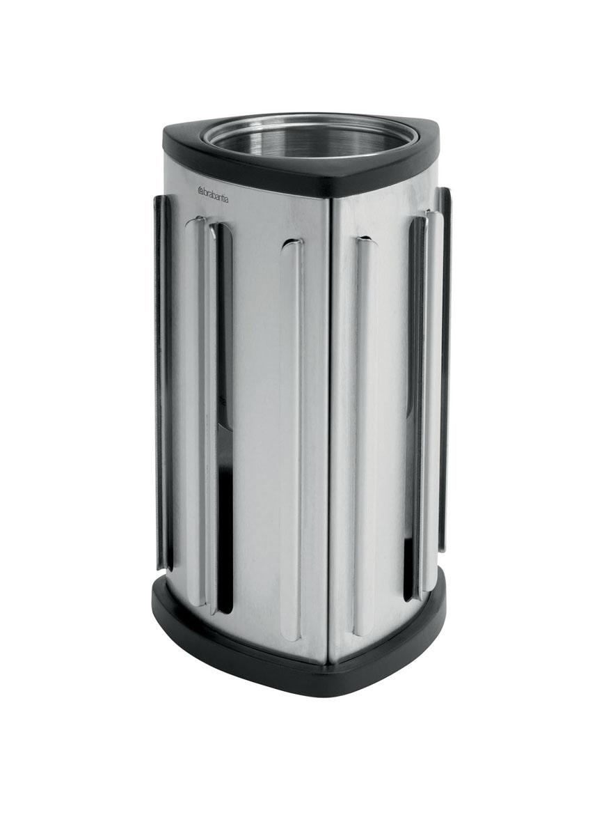 Стенд для капсул Brabantia Nespresso, настольныйCM000001326Стенд для капсул Brabantia Nespresso изготовлен из высококачественных коррозионностойких материалов - нержавеющей стали с матовой полировкой и пластика. Контейнер предназначен для хранения капсул Nespresso (вмещает до 30 штук). Капсулы легко вставляются и извлекаются из контейнера. Пустое пространство в центре можно использовать для ложек, кусочков сахара или кофе, а также в качестве контейнера для мелкого мусора. Стенд для капсул - идеальное решение для хранения кофейных капсул Nespresso! Капсулы в комплект не входят. Можно мыть в посудомоечной машине. Размер стенда (ДхШхВ): 11 см х 11 см х 20 см. Диаметр отверстия (по верхнему краю): 7,5 см.