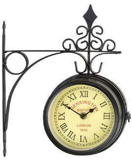 "Gardman Часы настенные ""Kensington"" на кронштейне, цвет: черный. 17151"