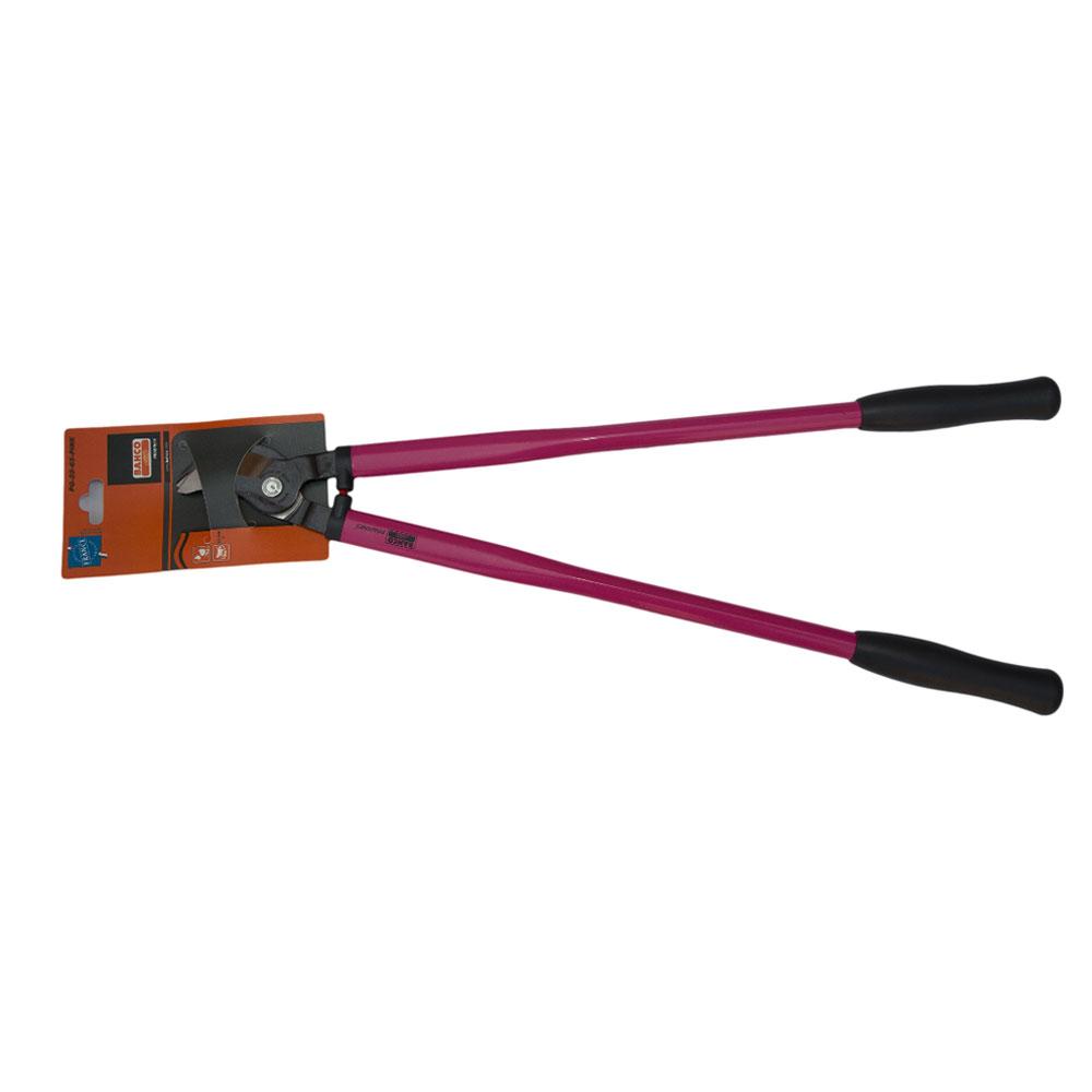 Сучкорез Bahco, цвет: розовый, длина 65 см. PG-28-65-PINKPG-28-65-PINKСучкорез Bahco с крепкой режущей головкой предназначен для кустарников и маленьких деревьев. Стальные рукоятки с удобными пластиковыми захватами. Режущая головка из закаленной и отпущенной высокоуглеродистой стали.