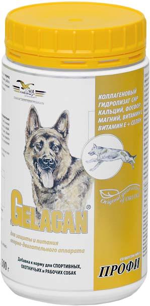 Добавка к корму для собак Гелакан Профи, со вкусом мяса, 500 г. GLN-5GLN-5Добавка к корму для собак Orling Гелакан Профи защищает и восстанавливает опорно-двигательный аппарат охотничьих, спортивных и рабочих собак, испытывающих интенсивные физические нагрузки, а также в период выставок, переездов и других стрессовых ситуаций. Предотвращает возможную декальцификацию и деминерализацию скелета собак. Показания: - для профилактики нарушений опорно-двигательного аппарата охотничьих, спортивных и рабочих собак; - для предотвращения декальцификации скелета; - для предотвращения деминерализации скелета; - для восстановления и укрепления суставов, костей, связок и хрящей; - кобелям в период вязок. Способ применения: Применяется внутрь. Предварительно обязательно растворить в воде! Давать с привычным для собаки кормом. Применять ежедневно в ходе подготовки к соревнованиям, при рабочих или спортивных нагрузках, а также в период стресса. Минимальный рекомендуемый курс применения 2 месяца. Давать собакам в...