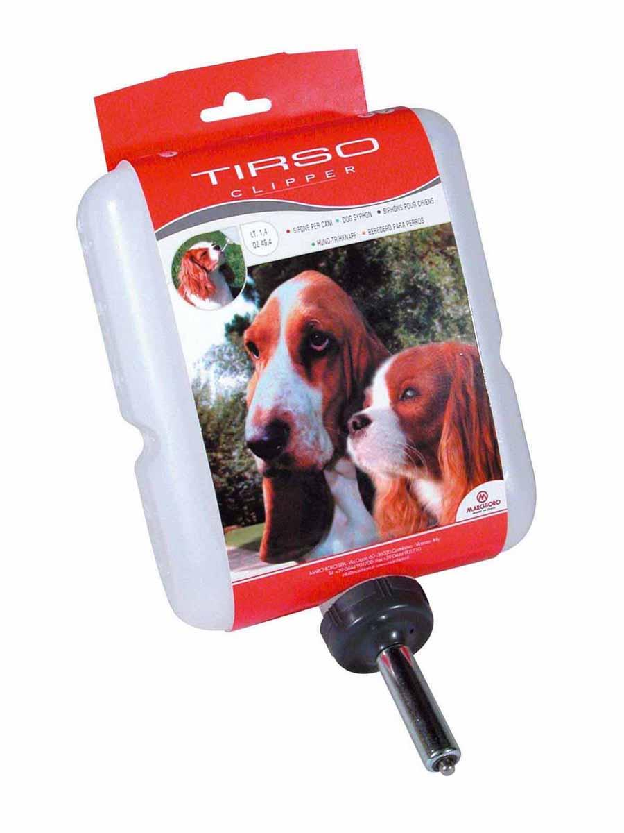 Поилка-непроливайка Marchioro Tirso, для клипперов, 1,4 л1060200800000Поилка-непроливайка Marchioro Tirso предназначена для клипперов и других переносок и клеток. Поилка легко устанавливается и обеспечивает постоянный запас воды вашему любимцу. Предназначена для собак. Объем: 1,4 л. Размер поилки (ДхШхВ): 15 см х 6 см х 21 см. Товар сертифицирован.