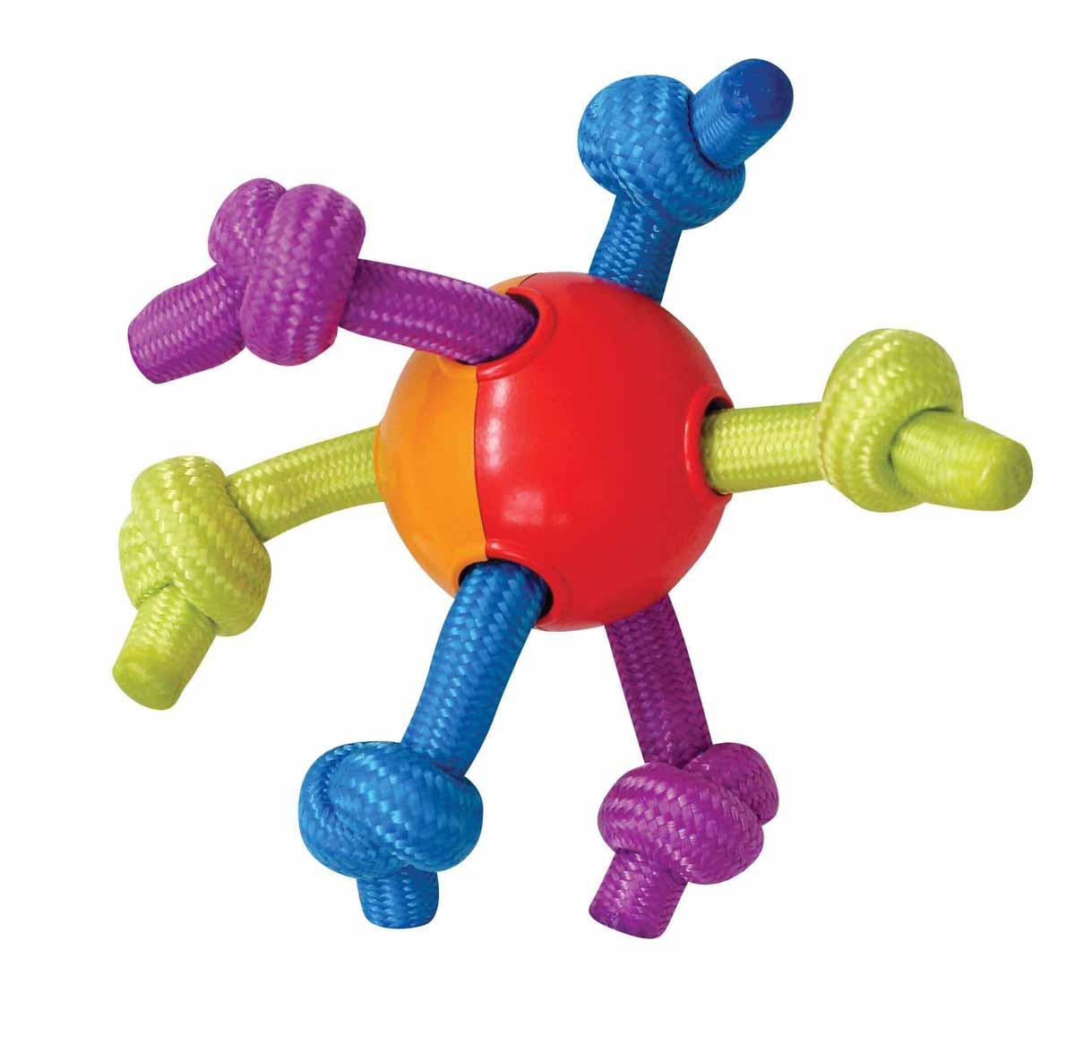 Игрушка для щенков Petstages Puppy Мячик с канатами122REXИгрушка для щенков Petstages Puppy представляет собой пластиковый мячик с канатами. Жуя и растягивая мягкие и прочные полипропиленовые канаты, ваш питомец не повредит себе зубы и десны. Эластичный мяч способствует тренировке челюстей. Различная текстура игрушки добавляет интерес к игре. Способствует очищению зубов и десен от налета и остатков пищи. Характеристики: Материал: полипропилен. Общий размер игрушки: 18 см х 18 см х 7 см. Диаметр мяча: 7 см.
