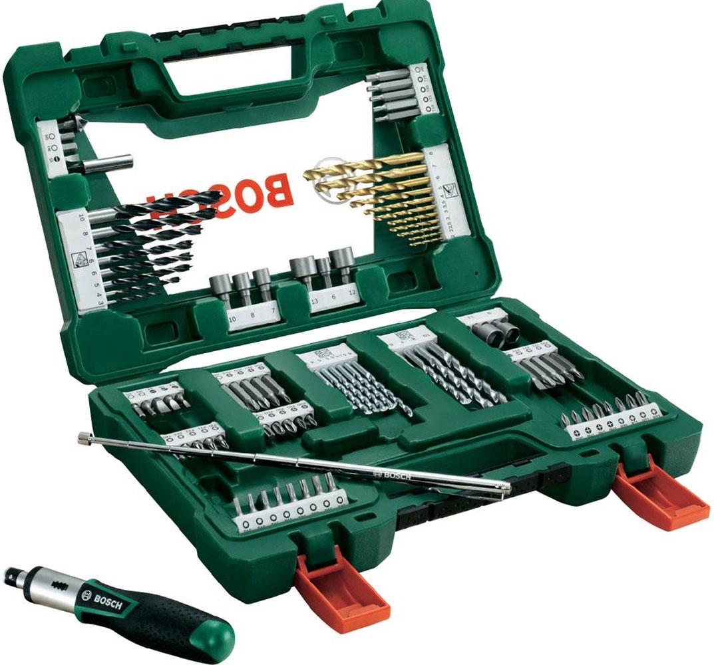 Набор принадлежностей Bosch V-Line, 91 предметSC-FD421005Набор инструментов Bosch V-Line предназначен для монтажа и демонтажа резьбовых соединений. Все инструменты в наборе изготовлены из высококачественной стали.Это необходимый предмет в каждом доме, набор станет незаменимым в Вашем хозяйстве.В набор входят:Сверла по металлу: 2, 2, 2,5, 3, 3, 4, 5, 6, 7, 8 мм;Сверла по дереву: 3, 4, 5, 5, 5,5, 5,5, 6, 6, 7, 8, 10 мм;Сверла по камню: 3, 4, 5, 6, 6, 7, 8, 10 мм;Биты 25 мм: PH0, PH0, PH1, PH1, PH2, PH2, PH3, PH3;Биты 25 мм: PZ0, PZ0, PZ1, PZ1, PZ2, PZ2, PZ3, PZ3;Биты 25 мм: SL3, SL5, SL5, SL7;Биты 25 мм: T10, T10, T15, T15, T20, T20, T25, T25, T30, T40;Биты 25 мм: H3, H5, H5, H6;Биты 50 мм: PH0, PH1, PH2, PH3;Биты 50 мм: PZ0, PZ1, PZ2, PZ3;Биты 50 мм: SL6;Биты 50 мм: T10, T15, T20, T25;Биты 50 мм: H5, H6;Торцовые ключи: 6, 7, 8, 9, 10, 11, 12, 13 мм;Зенкер;Магнитный держатель для бит;Магнитная ручка;Отвертка-трещотка.